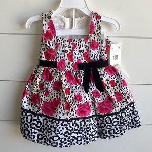 IRIS & IVY Floral / Leopard Print Dress Size 18m